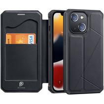 iPhone 13 Mini Hoesje - Dux Ducis Skin X Wallet Case - Zwart
