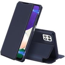 Samsung Galaxy A22 5G Hoesje - Dux Ducis Skin X Wallet Case - Donker Blauw