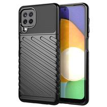 Case2go - Hoesje geschikt voor Samsung Galaxy A22 4G - Schokbestendige TPU Back Cover - Zwart