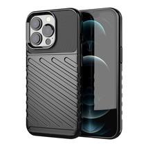 Case2go - Hoesje geschikt voor iPhone 13 Pro - Schokbestendige TPU Back Cover - Zwart