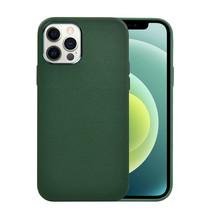 iPhone 12 Pro Max Hoes - Schokbestendige Back Cover - Leren Back Cover - Groen