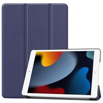 Case2go - Tablet hoes geschikt voor iPad 2021 - 10.2 Inch - Tri-Fold Book Case - Donker Blauw
