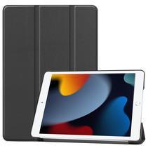 Case2go - Tablet hoes geschikt voor iPad 2021 - 10.2 Inch - Tri-Fold Book Case - Zwart