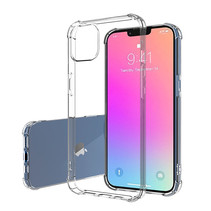Hoesje geschikt voor Apple iPhone 13 Pro Max - Clear Hard PC Case - Siliconen Back Cover - Shock Proof TPU - Transparant