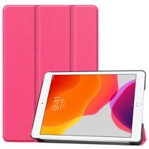 Case2go - Tablet hoes geschikt voor iPad 2021 - 10.2 Inch - Tri-Fold Book Case - Magenta