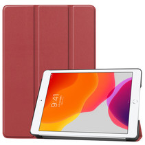 Case2go - Tablet hoes geschikt voor iPad 2021 - 10.2 Inch - Tri-Fold Book Case - Donker Rood