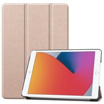 Case2go - Tablet hoes geschikt voor iPad 2021 - 10.2 Inch - Tri-Fold Book Case - Goud