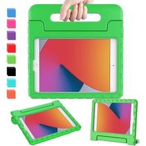 Case2go - Tablet hoes geschikt voor iPad 2021 - 10.2 Inch - Kinderhoes - Schokbestendige case met Handvat - Groen