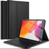 Case2go - Bluetooth toetsenbord Tablet hoes geschikt voor iPad 2021 - 10.2 Inch - QWERTY layout - Magneetsluiting - Sleep/Wake-up functie - Zwart