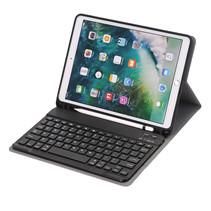 Case2go - Bluetooth toetsenbord Tablet hoes geschikt voor iPad 2021 - 10.2 Inch - Keyboard Case met Stylus Pen Houder - Blauw