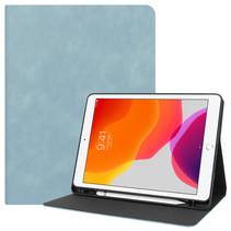 Case2go - Tablet hoes geschikt voor iPad 2021 - 10.2 Inch - PU Leer Folio Book Case - Licht Blauw