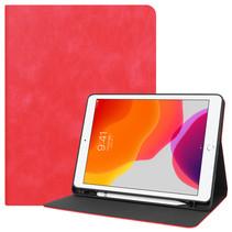 Case2go - Tablet hoes geschikt voor iPad 2021 - 10.2 Inch - PU Leer Folio Book Case - Rood