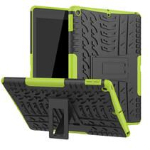 Case2go - Tablet hoes geschikt voor iPad 2021 - 10.2 Inch - Schokbestendige Back Cover - Groen