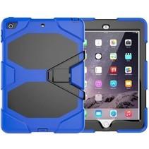 Case2go - Tablet hoes geschikt voor iPad 2021 - 10.2 Inch - Extreme Armor Case - Donker Blauw