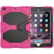 Case2go - Tablet hoes geschikt voor iPad 2021 - 10.2 Inch - Extreme Armor Case - Magenta