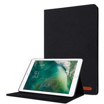 Case2go - Tablet hoes geschikt voor iPad 2021 - 10.2 Inch - Book Case met Soft TPU houder - Zwart