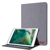 Case2go - Tablet hoes geschikt voor iPad 2021 - 10.2 Inch - Book Case met Soft TPU houder - Grijs