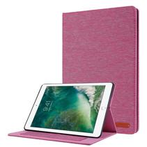 Case2go - Tablet hoes geschikt voor iPad 2021 - 10.2 Inch - Book Case met Soft TPU houder - Roze