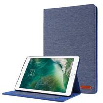 Case2go - Tablet hoes geschikt voor iPad 2021 - 10.2 Inch - Book Case met Soft TPU houder - Blauw