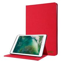 Case2go - Tablet hoes geschikt voor iPad 2021 - 10.2 Inch - Book Case met Soft TPU houder - Rood
