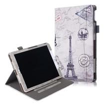 Case2go - Tablet hoes geschikt voor iPad 2021 - 10.2 Inch - Wallet Book Case - Eiffeltoren