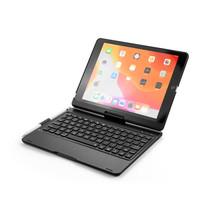 Case2go - Bluetooth toetsenbord Tablet hoes geschikt voor iPad 2021 - 10.2 Inch - 360 graden draaibaar - Toetsenbord verlichting - Zwart