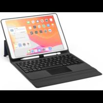 Case2go - Bluetooth toetsenbord Tablet hoes geschikt voor iPad 2021 - 10.2 Inch - met Touchpad - Zwart