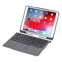 Case2go - Bluetooth toetsenbord Tablet hoes geschikt voor iPad 2021 - 10.2 Inch - QWERTY layout - Touchpad - Sleep/Wake-up functie - Zwart