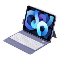 Case2go - Bluetooth toetsenbord Tablet hoes geschikt voor iPad 2021 - 10.2 Inch - QWERTY - Met auto Wake/Sleep functie - Paars