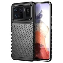 Case2go - Hoesje geschikt voor Xiaomi Mi 11 Ultra - Schokbestendige TPU Back Cover - Zwart
