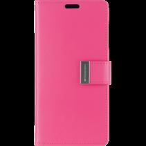 Telefoonhoesje geschikt voor Apple iPhone 13 Pro Max - Goospery Rich Diary Case - Hoesje met Pasjeshouder - Magenta