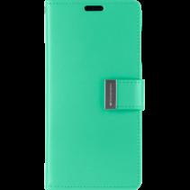 Telefoonhoesje geschikt voor Apple iPhone 13 Pro Max - Goospery Rich Diary Case - Hoesje met Pasjeshouder - Turquoise