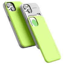 Telefoonhoesje geschikt voor Apple iPhone 13 Pro - Mercury Sky Slide Bumper Case - Lime Groen