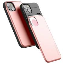 Telefoonhoesje geschikt voor Apple iPhone 13 Pro - Mercury Sky Slide Bumper Case - Rose Goud