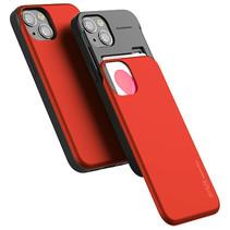Telefoonhoesje geschikt voor Apple iPhone 13 Pro - Mercury Sky Slide Bumper Case - Rood