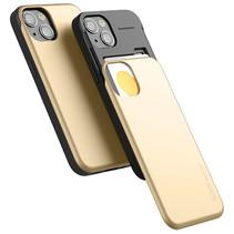 Telefoonhoesje geschikt voor Apple iPhone 13 Pro - Mercury Sky Slide Bumper Case - Goud
