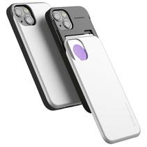 Telefoonhoesje geschikt voor Apple iPhone 13 Pro - Mercury Sky Slide Bumper Case - Zilver