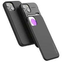 Telefoonhoesje geschikt voor Apple iPhone 13 Pro - Mercury Sky Slide Bumper Case - Zwart