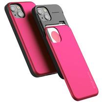 Telefoonhoesje geschikt voor Apple iPhone 13 Pro - Mercury Sky Slide Bumper Case - Magenta
