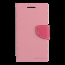 Telefoonhoesje geschikt voor Apple iPhone 13 Pro - Mercury Fancy Diary Wallet Case - Hoesje met Pasjeshouder - Roze/Magenta