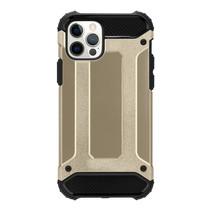 Telefoonhoesje geschikt voor iPhone 13 - Metallic Armor Case - Goud