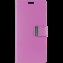 Telefoonhoesje geschikt voor Apple iPhone 13 Pro Max - Goospery Rich Diary Case - Hoesje met Pasjeshouder - Paars