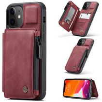 CaseMe - Telefoonhoesje geschikt voor Apple iPhone 13 - Back Cover - met RFID Pasjeshouder - Rood