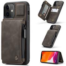 CaseMe - Telefoonhoesje geschikt voor Apple iPhone 13 - Back Cover - met RFID Pasjeshouder - Donker Bruin