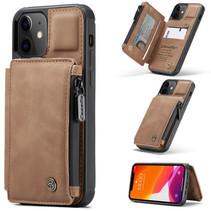 CaseMe - Telefoonhoesje geschikt voor Apple iPhone 13 - Back Cover - met RFID Pasjeshouder - Licht Bruin
