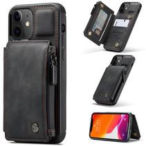 CaseMe - Telefoonhoesje geschikt voor Apple iPhone 13 - Back Cover - met RFID Pasjeshouder - Zwart