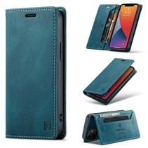 AutSpace - Telefoonhoesje geschikt voor Apple iPhone 13 Mini - Wallet Book Case - Magneetsluiting - met RFID bescherming - Blauw