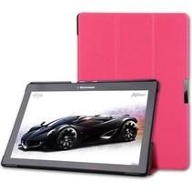 Lenovo Tab 2 A10-70f hoes - Tri-Fold Book Case -  Magenta