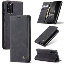 CaseMe - Samsung Galaxy S20 hoesje - Wallet Book Case - Magneetsluiting - Zwart