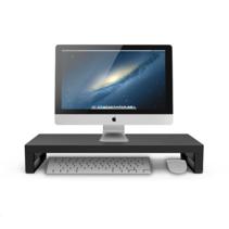 Case2go - Monitor Standaard -  Laptop Standaard - Ergonomische design - Monitor Verhoger - Aluminium -- 54,5 x 22 x 9 CM - Zwart